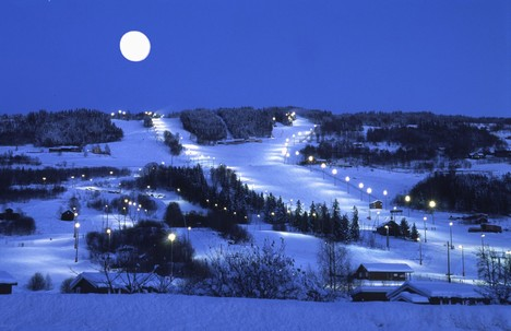 Hafjell in Norway - Hafjell night view