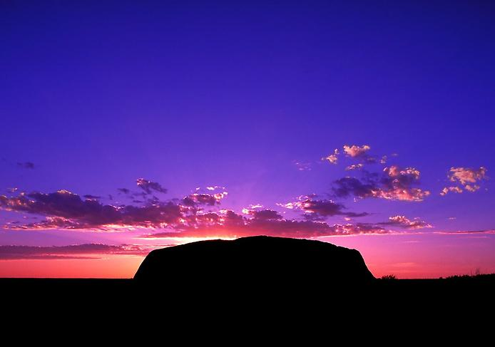 Australia - Ayers Rock at sunset