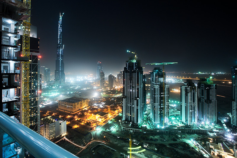 United Arab Emirates - Burj in Dubai at night