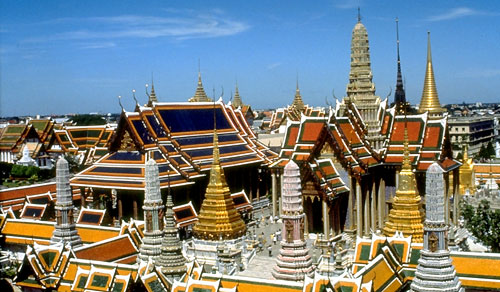 The Grand Palace and The Temple of the Emerald Buddha - Grand Palace view