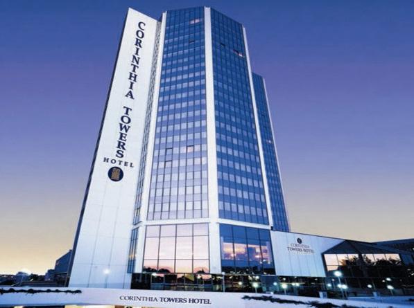 Hotel corinthia towers the best 5 star hotels in prague czech republic for 5 star restaurant exterior