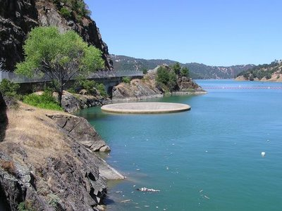 The Monticello Dam, Napa County, California, USA - Overview of Monticello Dam