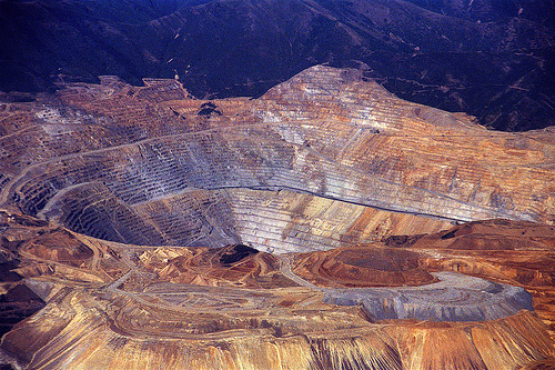The Bingham Canyon Mine, Utah, USA - The Bingham Canyon Mine general view