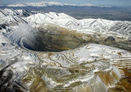 The Bingham Canyon Mine, Utah, USA - The Bingham Canyon Mine view by winter