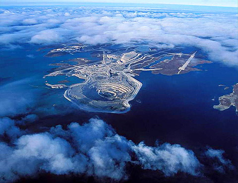 The Diavik Diamond Mine, Canada  - The Diavik Diamond Mine aerial view