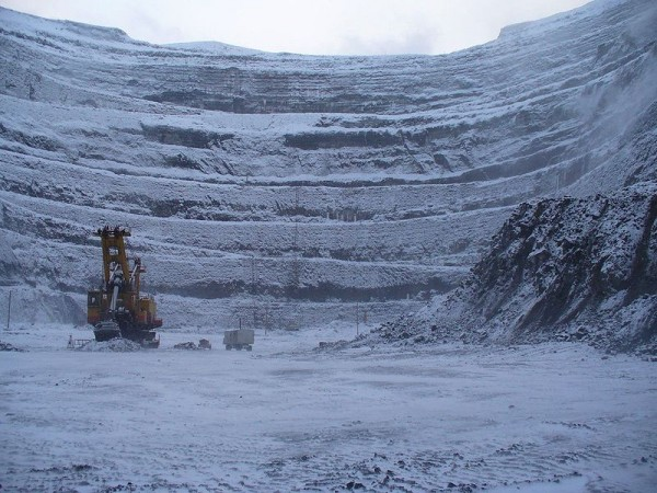 The Udachnaya Pipe Diamond Mine, Russia - Mine view
