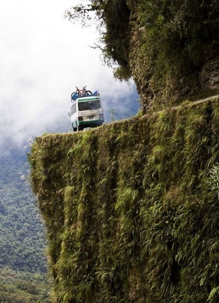 Road of Death in Bolivia