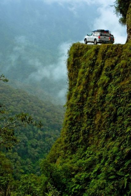 Road of Death in Bolivia - Yungas Road view