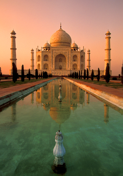 Taj Mahal - Taj Mahal at sunset