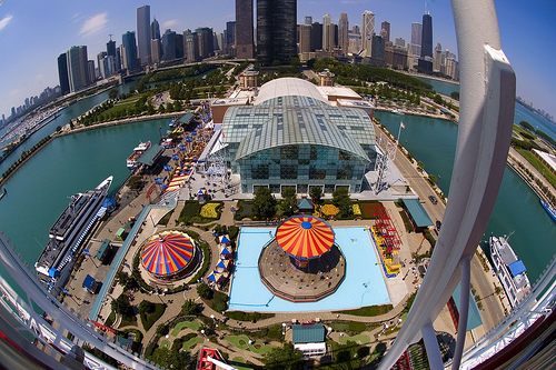 Navy Pier City View From The Ferris Wheel
