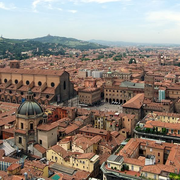 Bologna in Italy - Bologna aerial view