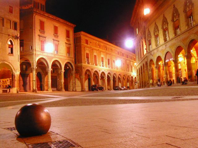 Bologna in Italy - Bologna view by night