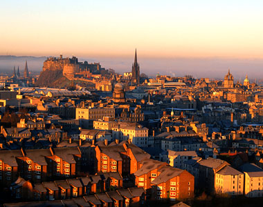 Edinburgh in Scotland - City view