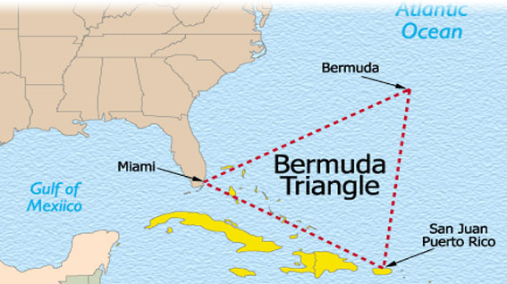 The Bermuda Triangle - Bermuda Triangle map