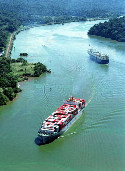 Panama Canal in Panama - Ships in Panama Canal