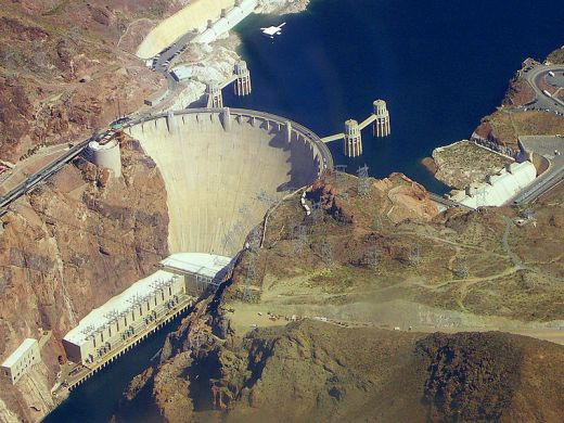 Hoover Dam in USA - Hoover Dam view