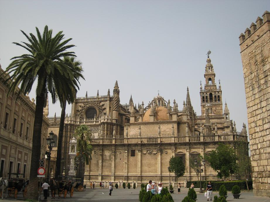 Cathedral of Sevilla - Front view of the cathedral