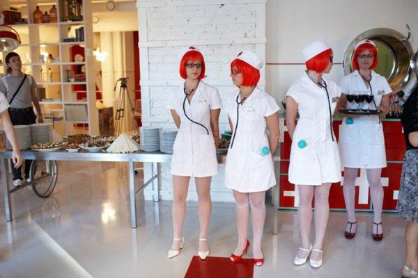 Hospital Restaurant in Latvia - Waitresses at Hospital Restaurant
