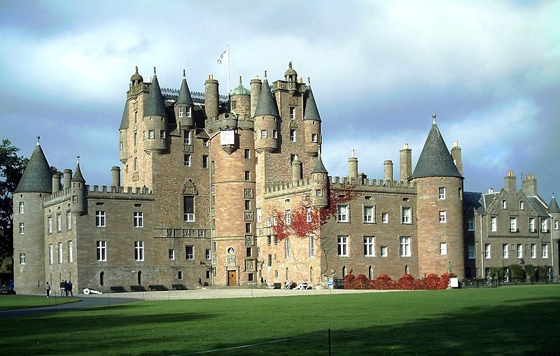 Glamis Castle in Scotland, UK - General view