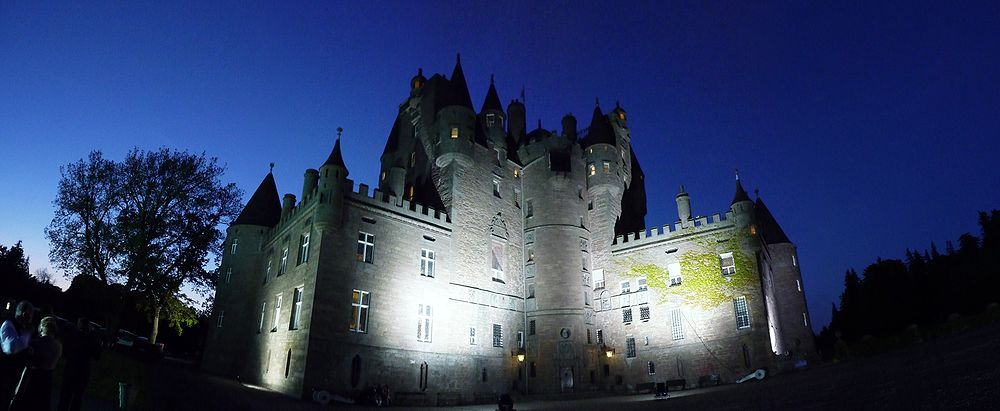 Glamis Castle in Scotland, UK - Night view