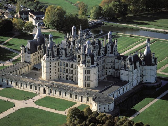 Chambord Castle - Aerial view