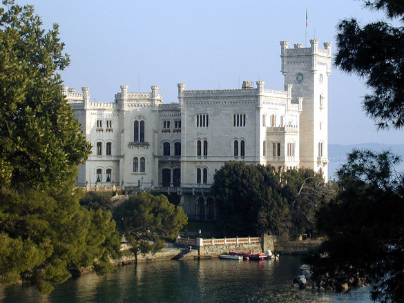 Miramare Castle in Trieste, Italy - General view