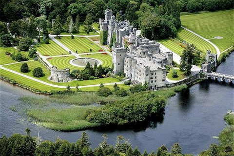 Ashford Castle - Aerial picture of the castle