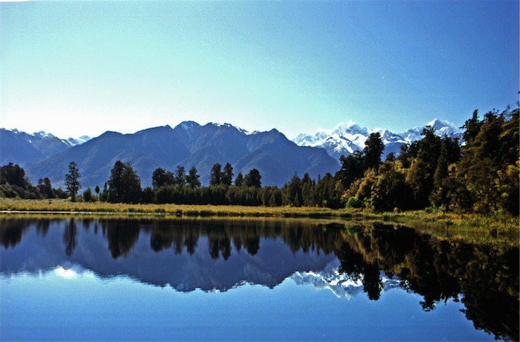 "Lake Matheson in New Zealand - ""Mirror Lake"""