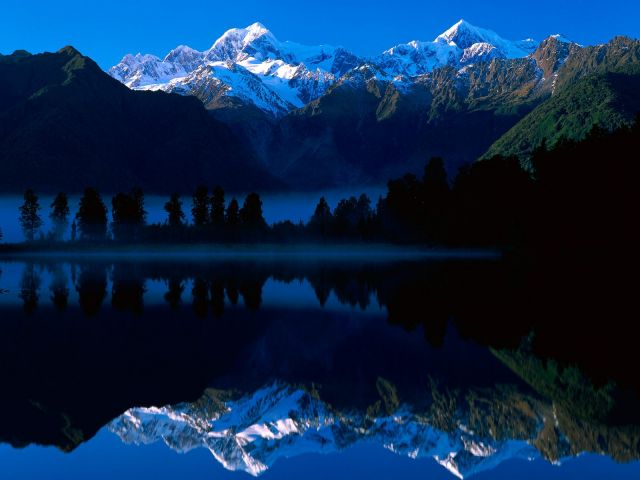Lake Matheson in New Zealand - Perfect reflection