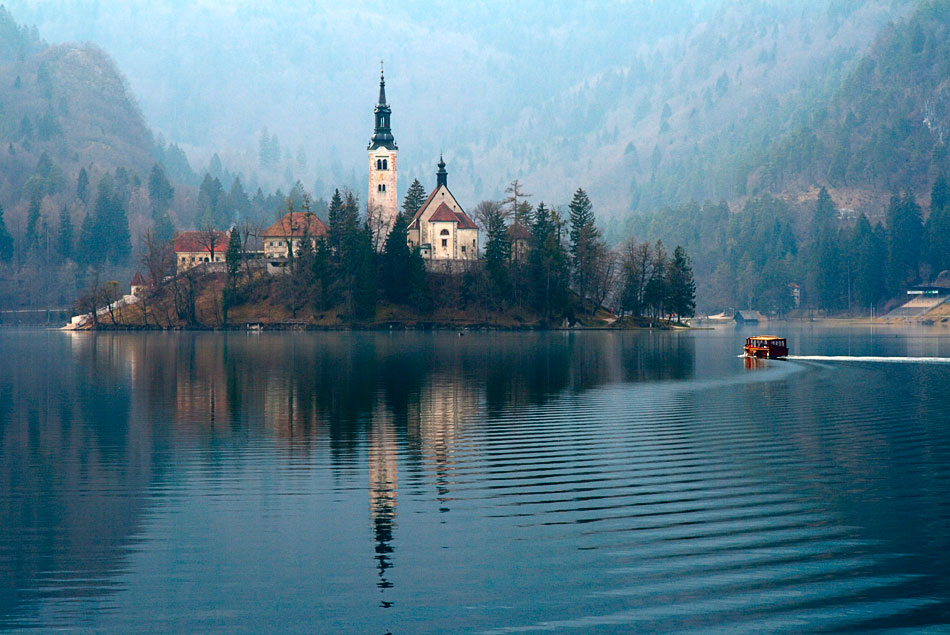Lake Bled in Slovenia - Island view