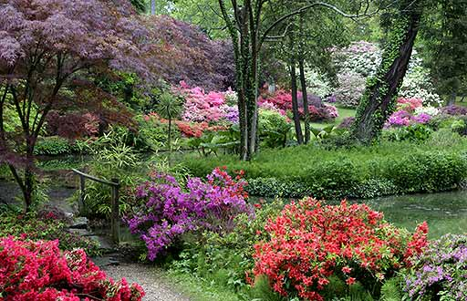 Exbury Gardens in UK - Great panorama