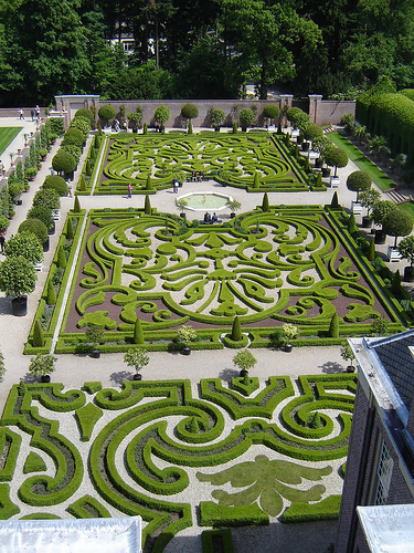 Gardens at Het Loo Palace - Aerial view