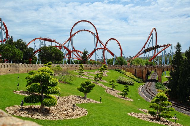 PortAventura, Tarragona, Spain  - Dragon Khan Ride