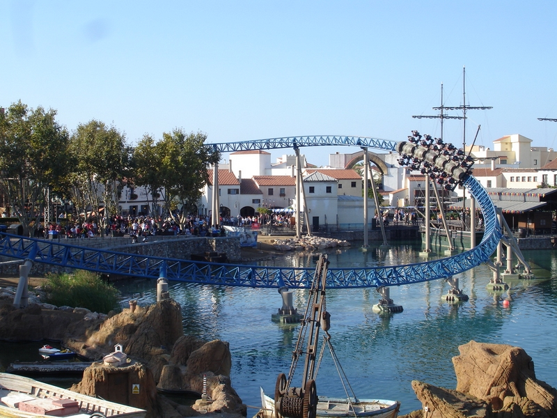 PortAventura, Tarragona, Spain  - Furious Baco ride -the fastest in Europe