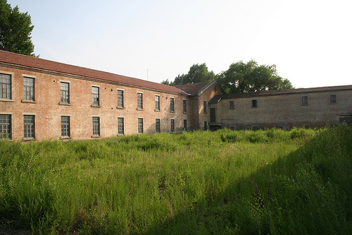 Unit 731 Experimentation Camp, Harbin, Manchuria, China  - One of the buildings at Unit 731