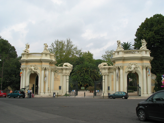 Rome Zoological Garden, Italy - Entrance to the Rome Zoo