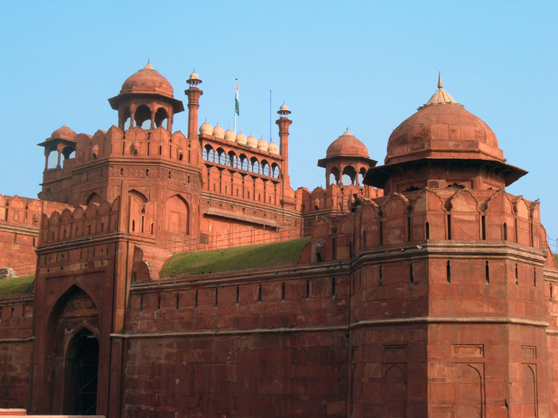 Red Fort in Delhi - Imposing structure