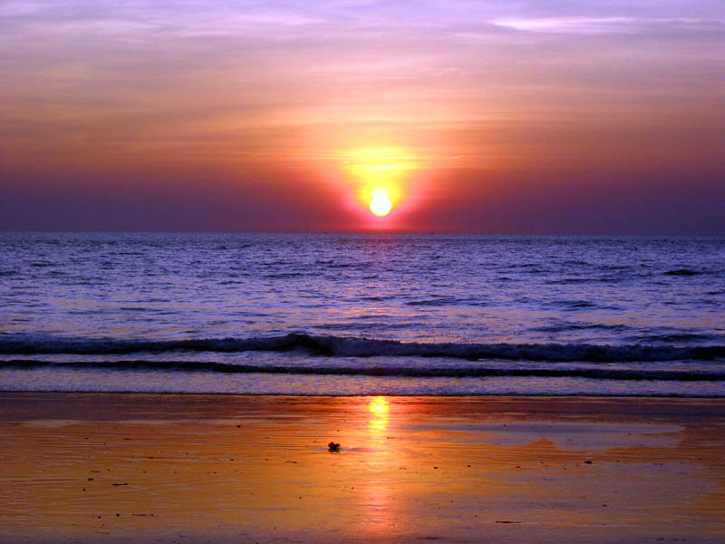 Beaches of Goa - Beautiful sunset