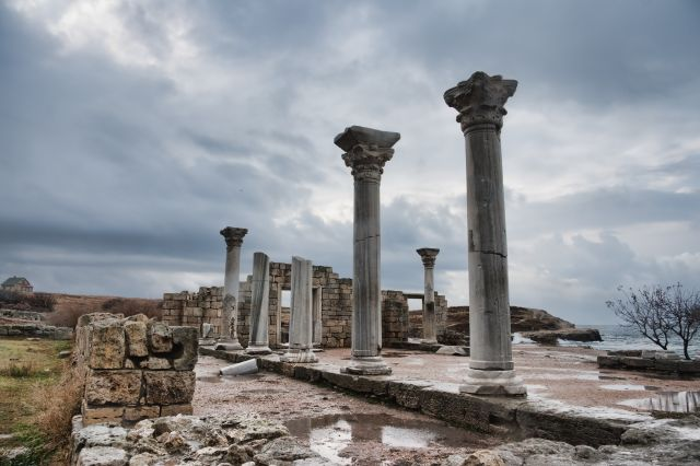 National Preserve of Tauric Chersonesos in Sevastopol - Ancient columns
