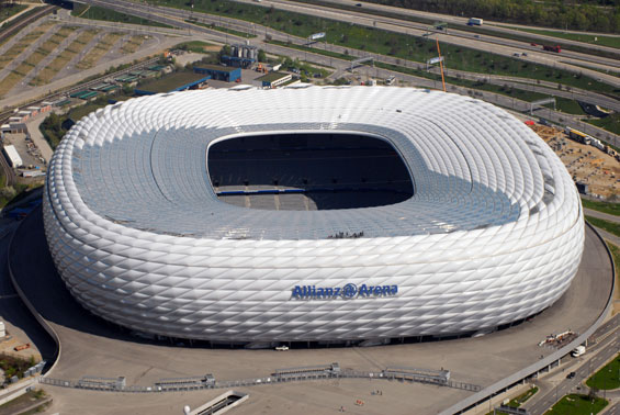 Allianz Arena in Germany - Aerial view