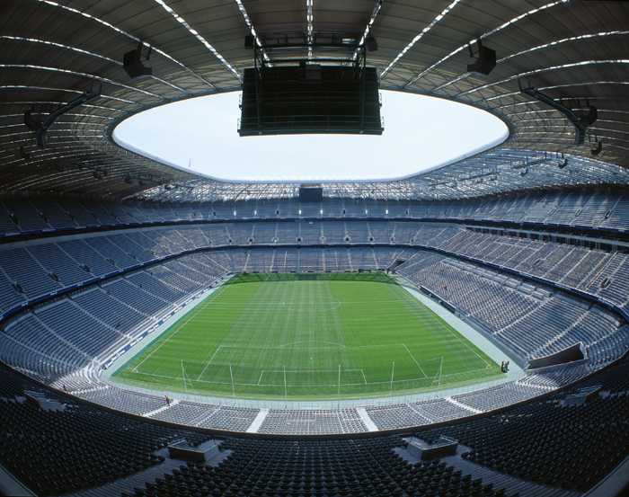 Allianz Arena in Germany - Interior view