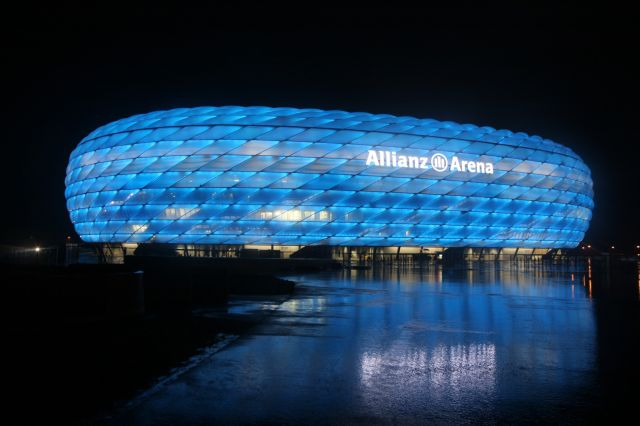 Allianz Arena in Germany - Night view