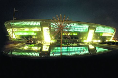 Donbass Arena in Ukraine - Night view