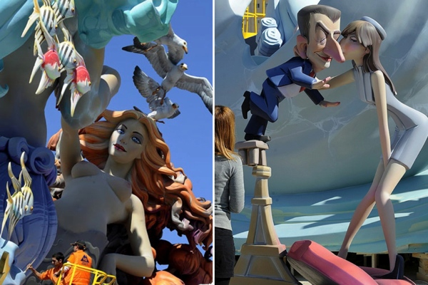 Las Fallas in Valencia, Spain - Las Fallas festival