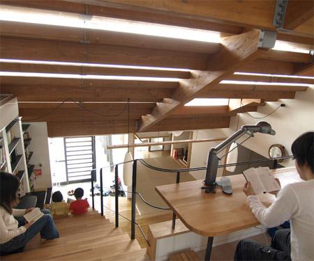 Stairs House in Japan - Inside view