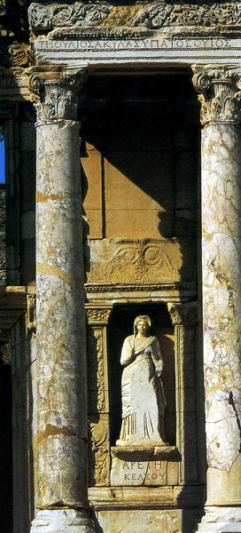 Celsius Library in Turkey - Roman statue