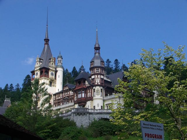 Peleş Castle, Romania - Close view of the castle