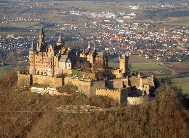 Hohenzollern Castle, Germany - Aerial view of the castle