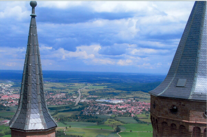 Hohenzollern Castle, Germany - Breathtaking views from the castle