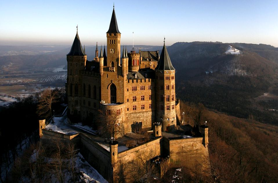 Hohenzollern Castle, Germany - Close view of the castle